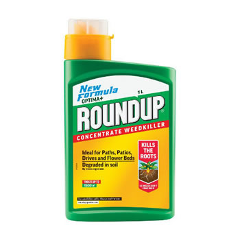 Image of Roundup Optima Plus Weedkiller Concentrate - 1L