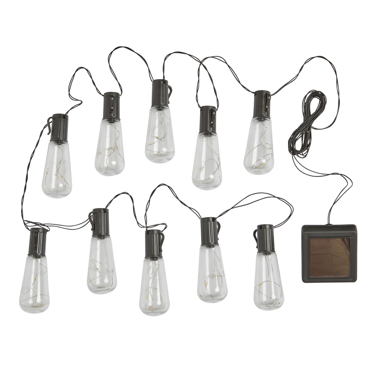 Extra image of Eureka! Vintage Litghbulbs String Lights - Pack of 10