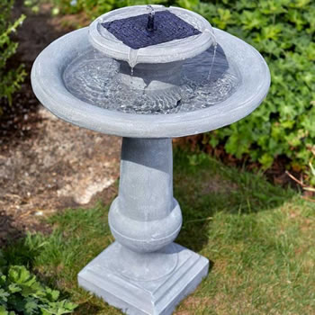 Image of Solar Powered Water Feature - Chatsworth Bird Bath