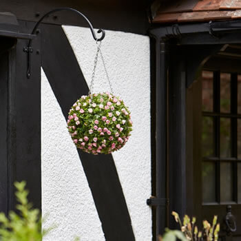 Image of Topiary Pink Rose Ball - 30cm