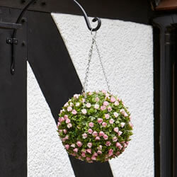 Small Image of Topiary Pink Rose Ball - 30cm