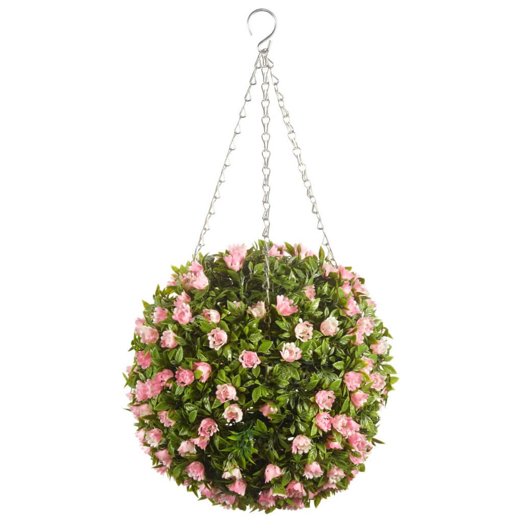 Extra image of Topiary Pink Rose Ball - 30cm