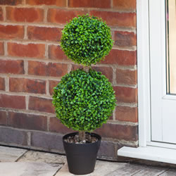 Small Image of Duo Ball Topiary Tree - 60cm