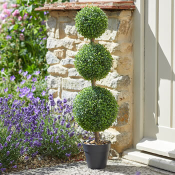 Image of Trio Ball Topiary Tree - 80cm