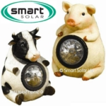 Solar Powered Farmyard Animal Lights - Pig and Cow Set