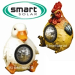 Solar Powered Farmyard Animal Lights - Hen and Duck Set