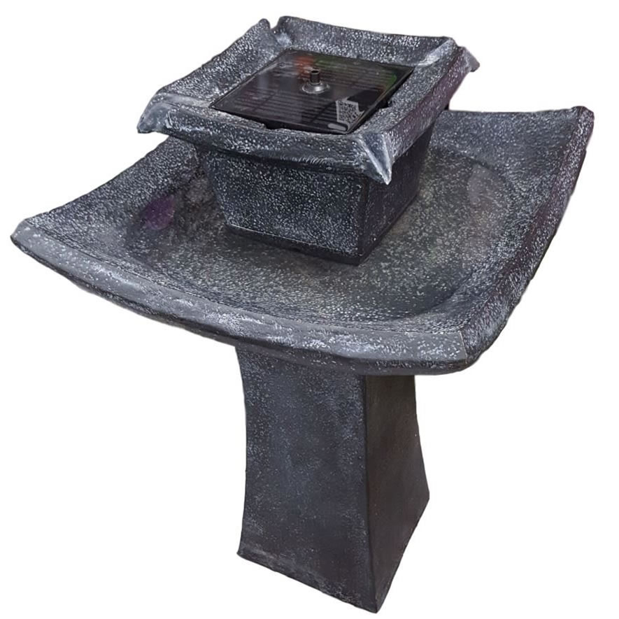 Extra image of Solar Powered Water Feature - Pagoda Bird Bath