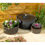 Genoa Solar Water Fountain and Planter - Bronze