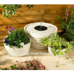 Genoa Solar Water Fountain and Planter - White