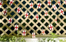 Image of Solar Powered England Flag Lights