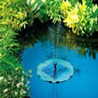 Solar Powered Water Feature - Floating Lily Fountain