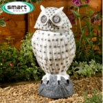 Smart Solar Owl Spotlight With Moving Head - White