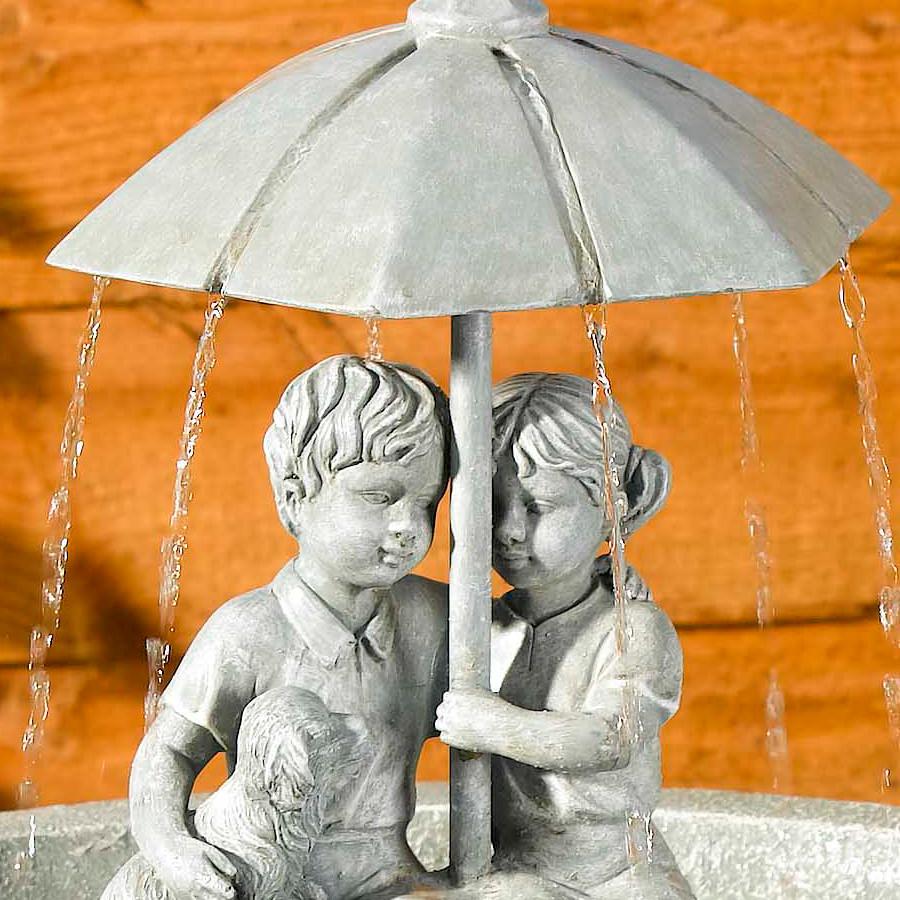 Solar Umbrella Fountain Water Feature 163 129 99