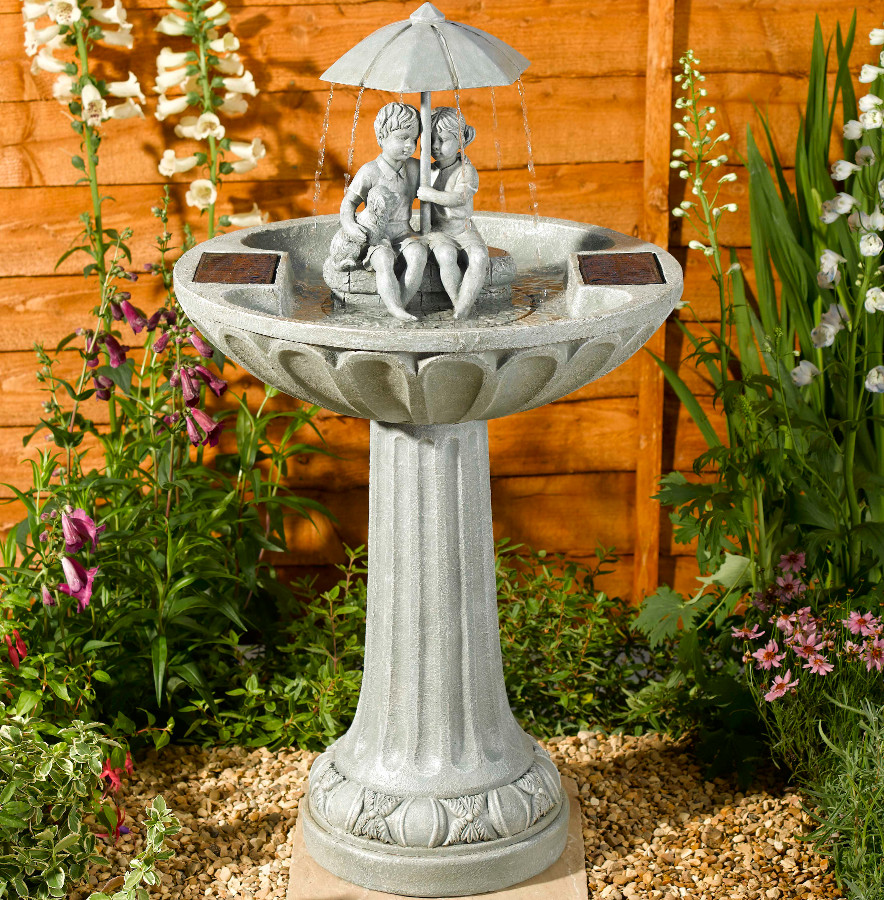 Solar Umbrella Fountain Water Feature 163 129 99