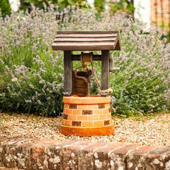 Image of Solar Powered Water Feature - Wishing Well