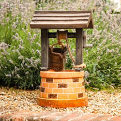 Small Image of Solar Powered Water Feature - Wishing Well