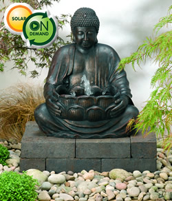 Solar Powered Buddha Water Feature