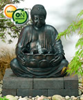 Solar Powered Buddha Water Feature With Light