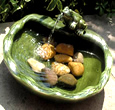 Small Image of Solar Powered Water Feature - Ceramic Frog