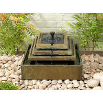 Small Image of Solar Water Feature - Stepped Slate Fountain