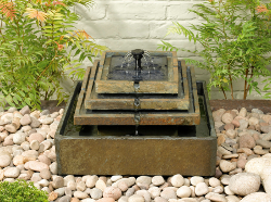 Image of Solar Water Feature - Stepped Slate Fountain