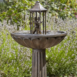 Small Image of Solar Powered Water Feature - Dancing Couple