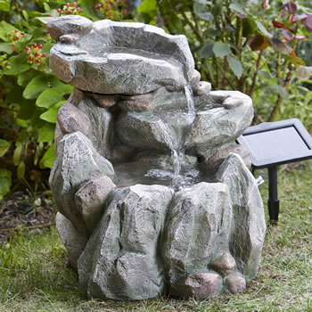 Image of Rock Fall Fountain Solar Water Feature
