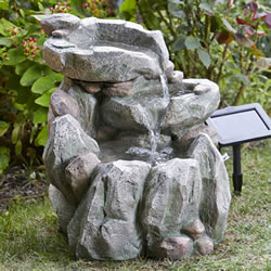 Small Image of Rock Fall Fountain Solar Water Feature
