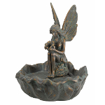 Small Image of Solar Powered Fairy Leaf Fountain