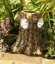 Solar  Garden Light - Tree Stump