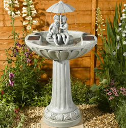 Small Image of Solar Umbrella Fountain Water Feature