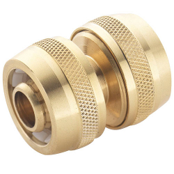 "Image of Spear & Jackson Brass 1/2"" Hose Repair Connector"