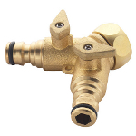 Small Image of Spear & Jackson Brass Two Way Tap Connector