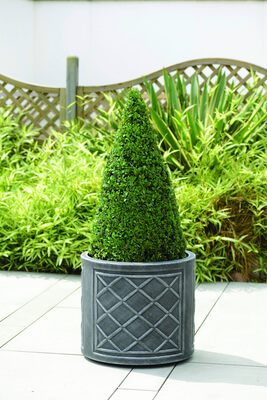 Image of Lead Effect Round Planter - 44cm