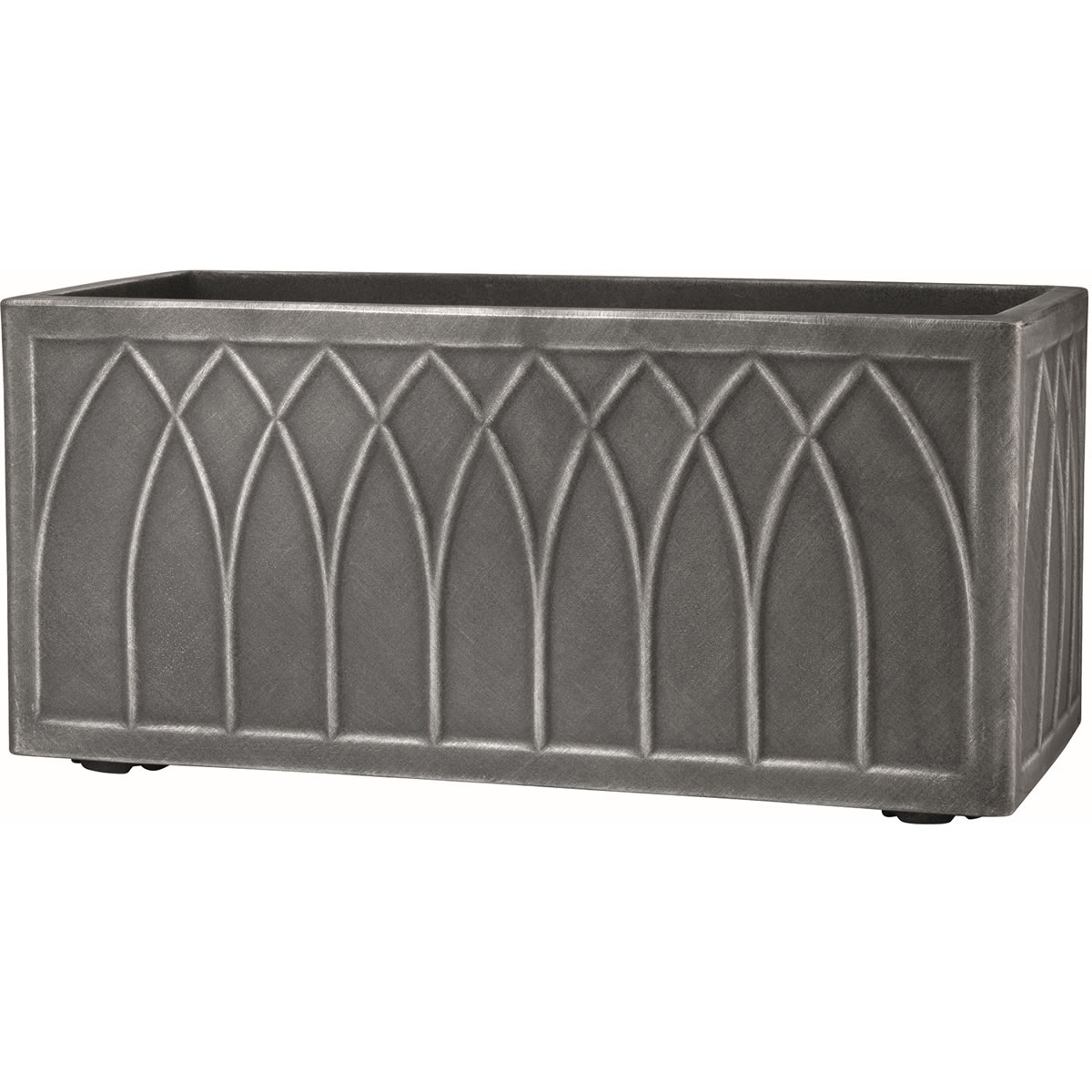 Extra image of Stewart Versailles Trough Planter in Pewter - 70cm