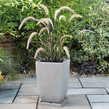 Image of Cotswold Tall Square Planter - 33cm - Limescale Grey