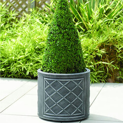 Small Image of Lead Effect Round Planter - 44cm