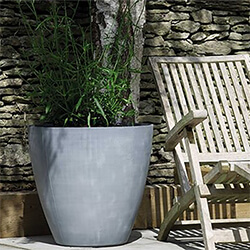Small Image of Stewart 53cm Tall Round Beton Planter in Dark Grey