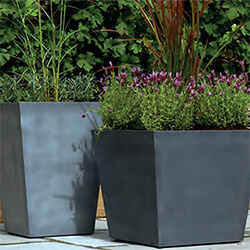 Small Image of Stewart 40cm Tall Square Beton Planter in Dark Grey