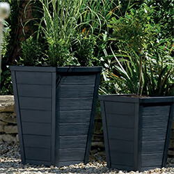 Small Image of Stewart 36cm Taper Tall Planter in Anthracite