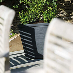 Extra image of Stewart 40cm Square Taper Planter in Anthracite