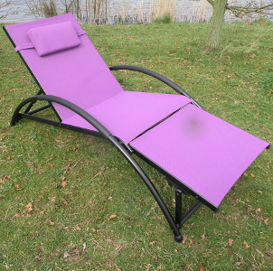 Image of Cozyvan Textaline Sun Lounger - Purple/Black