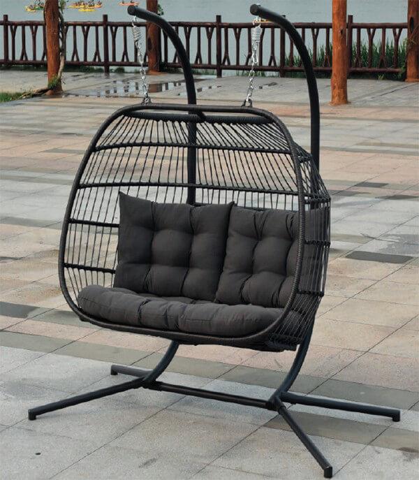 Eleanor Folding Double Hanging Egg Chair Cocoon 163 389 02 Garden4less Uk Shop