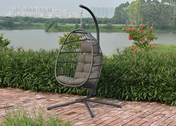 Wondrous Holly Single Hanging Egg Chair Cocoon Caraccident5 Cool Chair Designs And Ideas Caraccident5Info