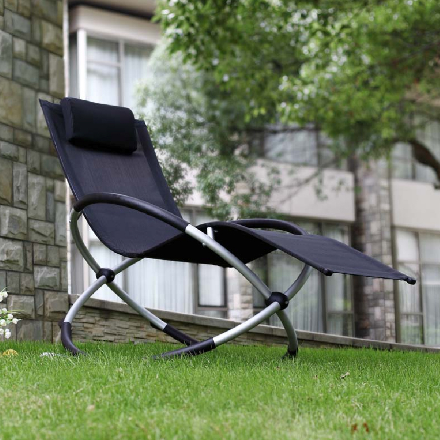orbital relaxer rocking garden chair black