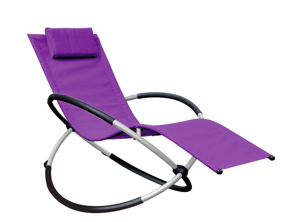 Charmant Image Of Orbital Relaxer Rocking Garden Chair   Purple
