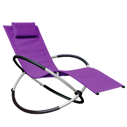 Small Image of Orbital Relaxer Rocking Garden Chair - Purple