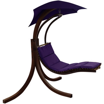 Image of Riva Wooden Dream Chair Purple