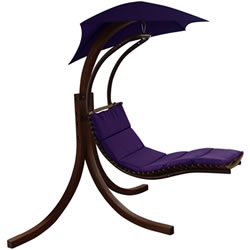 Small Image of Riva Wooden Dream Chair Purple