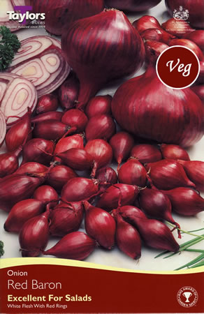 Image of 50 Onion Sets - Red Baron (Spring Planting)